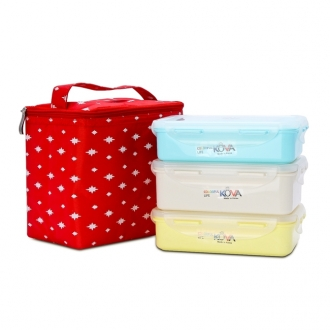 Bộ 3 hộp Lunch box Kova Colorful Life